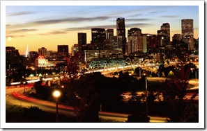 081 - Denver skyline at dusk