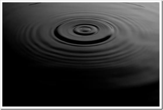 Black water ripple