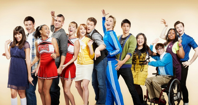The cast of Glee
