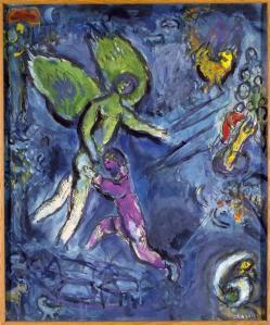 """""""La lutte de Jacob et de l'Ange"""" by Marc Chagall, 1963."""