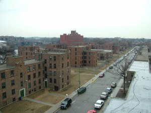 Lathrop Homes, Hoyne Ave. south of Diversey Ave.