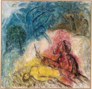 """The Sacrifice of Isaac"" by Marc Chagall (1966)."