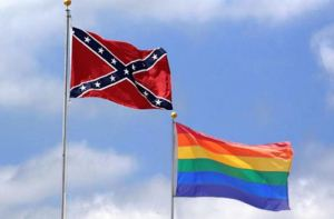 Confederate-flag-Rainbow-flag