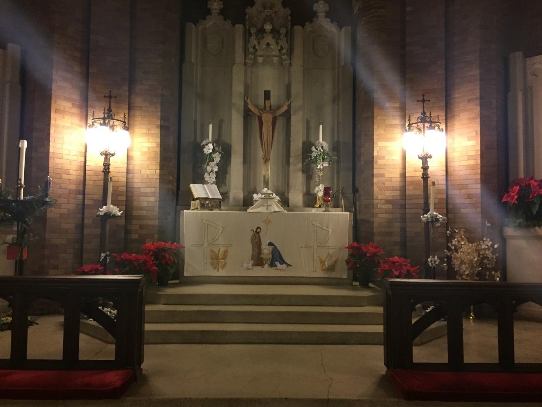 St. Luke's chancel. Christmas Eve, 2014.