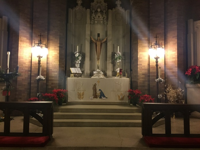 St. Luke's chancel. Christmas Eve, 2014.